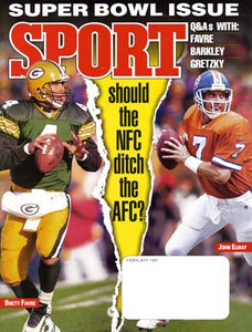 February 1997 Sport Cover (Brett Favre, Green Bay Packers, John Elway, Denver Broncos)