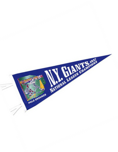 New York Giants (Baseball) Team Pennant (Blue)