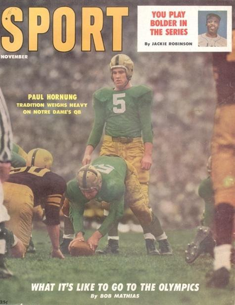 November 1956 Sport Cover (Paul Hornung, Notre Dame)