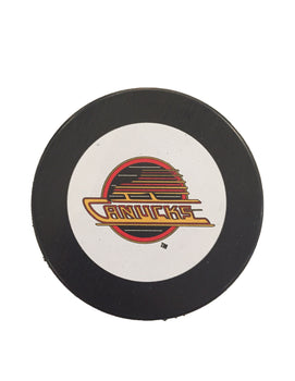 Vancouver Canucks Vintage Hockey Puck (Skate)