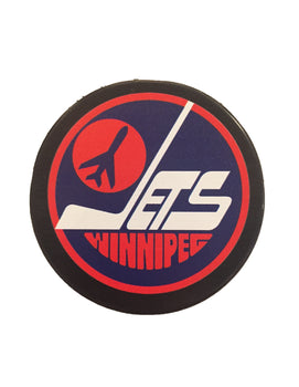 Winnipeg Jets Vintage Hockey Puck