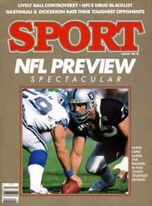 August 1986 Sport Cover (Howie Long, Los Angeles Raiders)