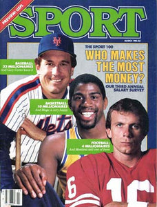 March 1985 Sport Cover (Gary Carter of the New York Mets, Magic Johnson of the Los Angeles Lakers and Joe Montana of the San Francisco 49ers)