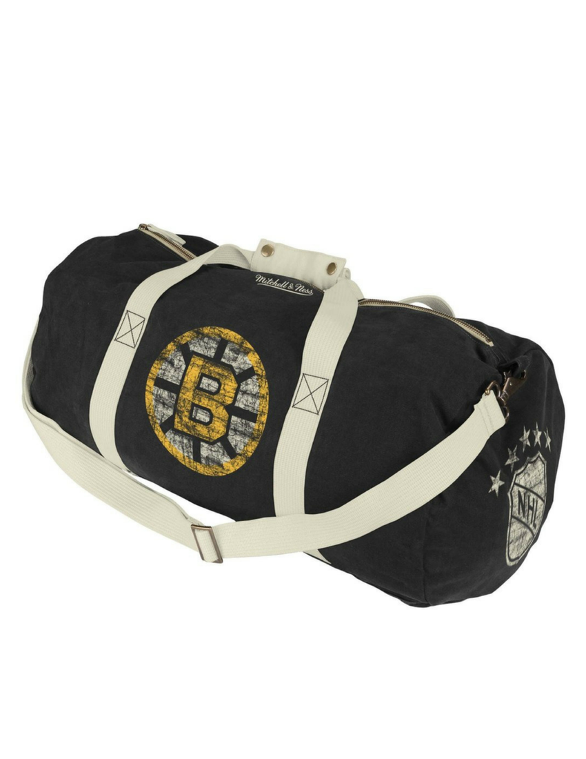 Boston Bruins Canvas Washed Duffle Bag