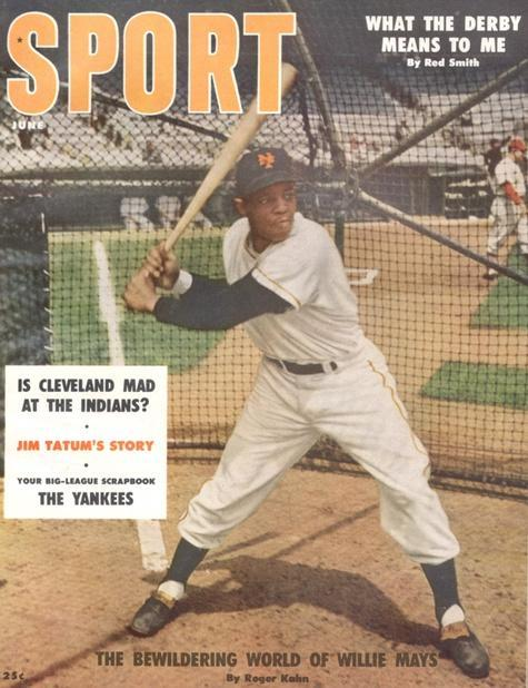 June 1956 Sport Cover (Willie Mays, New York Giants)