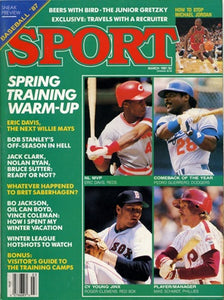 March 1987 Sport Cover (Eric Davis of the Cincinnati Reds, Pedro Guerrero of LA Dodgers, Rogers Clemens of the Boston Red Sox and Mike Schmidt Philadelphia Phillies)