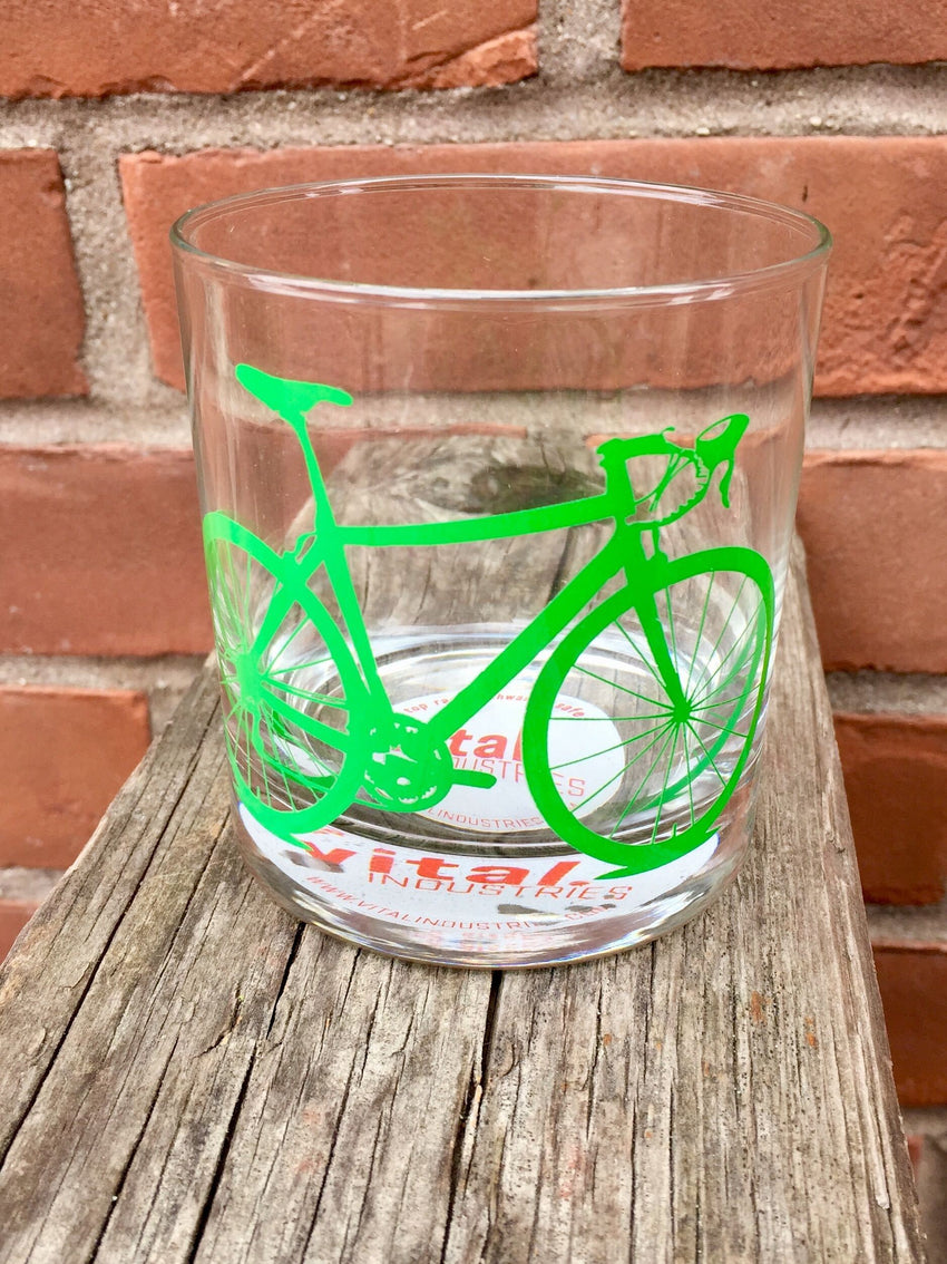Bicycle Rocks Glass