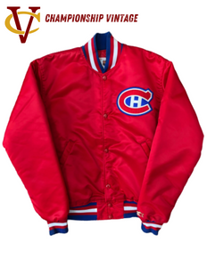 Montreal Canadiens Vintage Red Starter Jacket