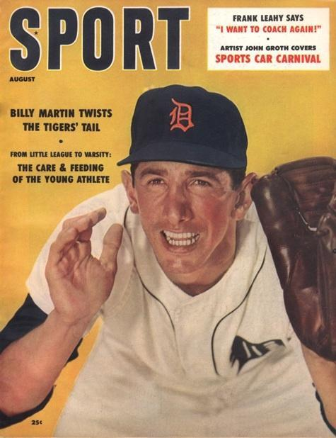 August 1958 Sport Cover (Billy Martin, Detroit Tigers)