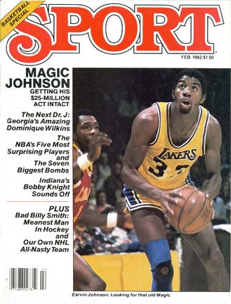 February 1982 Sport Cover (Magic Johnson, Los Angeles Lakers)