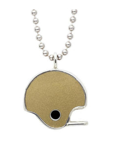 Game-Used Notre Dame College Football Helmet Pendant