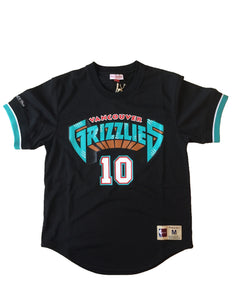 Vancouver Grizzlies Mike Bibby Mesh Crew Jersey