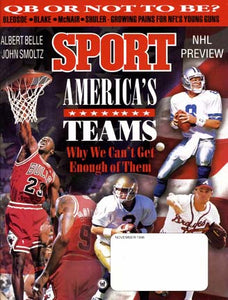 November 1996 Sport Cover (Michael Jordan, Ron Powlus, Greg Maddux, Troy Aikman and Ron Harper)