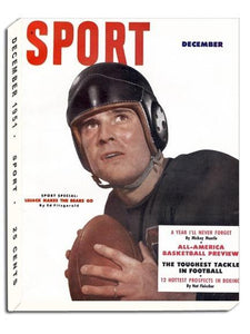 December 1951 Sport Cover (Johnny Lujack, Chicago Bears)