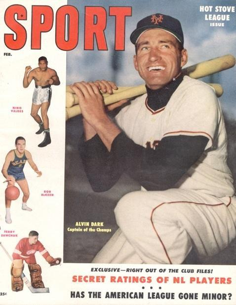 February 1955 Sport Cover (Alvin Dark,New York Yankees)