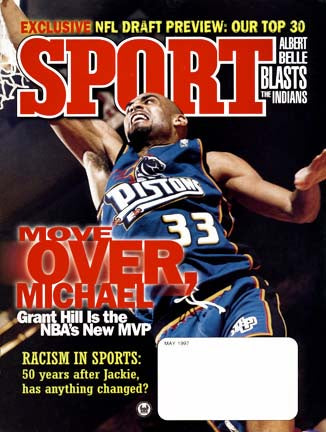 May 1997 Sport Cover (Grant Hill, Detroit Pistons)