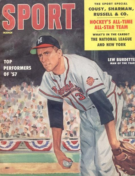 March 1958 Sport Cover (Lew Burdette, Milwaukee Braves)