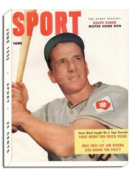 June 1952 Sport Cover (Ralph Kiner, New York Baseball Giants)