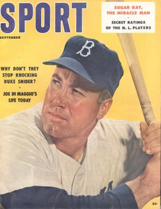 September 1957 Sport Cover (Duke Snider, Brooklyn Dodgers)