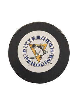 Pittsburgh Penguins Vintage Hockey Puck