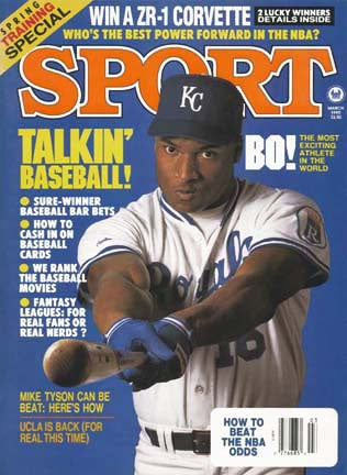 March 1990 Sport Cover (Bo Jackson, Kansas City Royals)