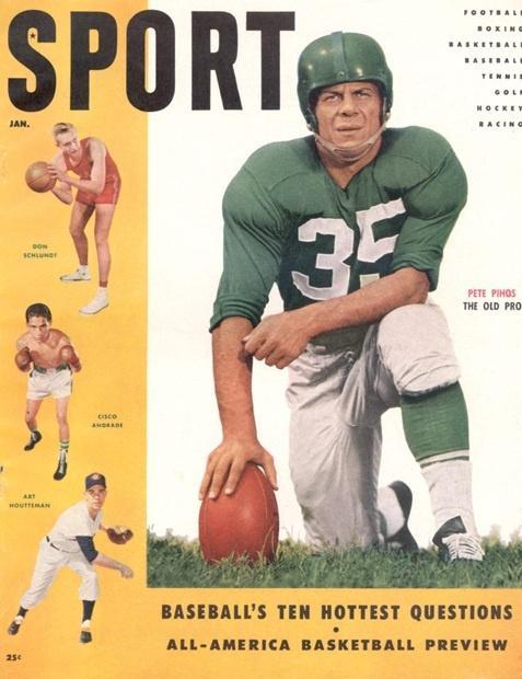 January 1955 Sport Cover (Pete Pihos, Philadelphia Eagles)