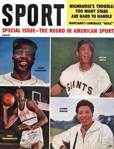 March 1960 Sport Cover (Jackie Robinson, Wilt Chamberlin, Althea Gibson, Willie Mays)