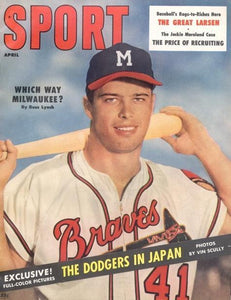 April 1957 Sport Cover (Ed Mathews, Milwaukee Braves)