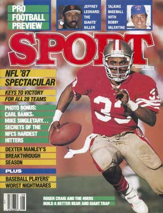 August 1987 Sport Cover (Roger Craig, San Francisco 49ers)