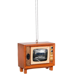 New England Patriots Retro Television Ornament