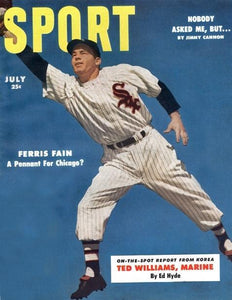 July 1953 Sport Cover (Ferris Fain, Chicago White Sox)
