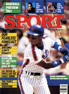 April 1987 Sport Cover (Darryl Strawberry, New York Mets)