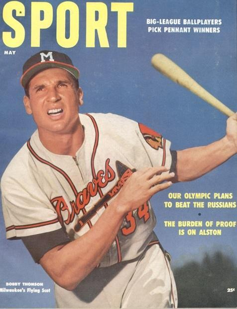 May 1955 Sport Cover (Bobby Thompson, Milwaukee Braves)
