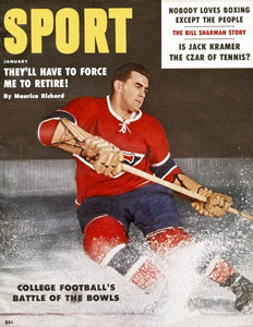 January 1959 Sport Cover (Maurice Richard, Montreal Canadiens)