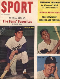 September 1960 Sport cover (Rocky Colavito, Nellie Fox, Willie Mays)