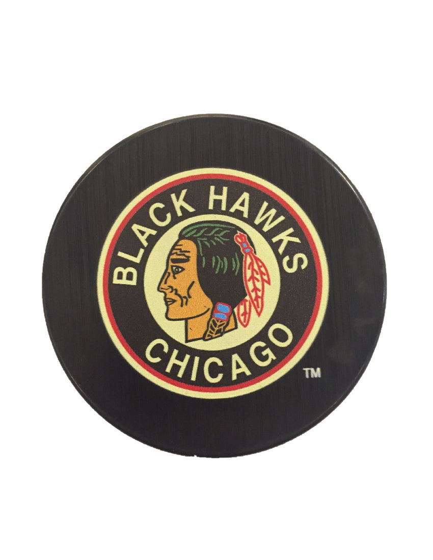 Chicago Blackhawks Vintage Hockey Puck