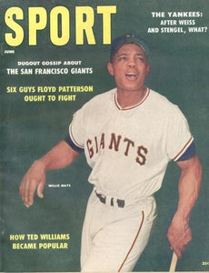 June 1958 Sport Cover (Willie Mays, San Francisco Giants)