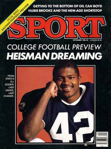September 1986 Sport Cover (D.J. Dozier, Penn State)