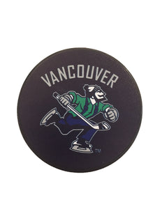 Vancouver Canucks Vintage Hockey Puck (Johnny Canuck)
