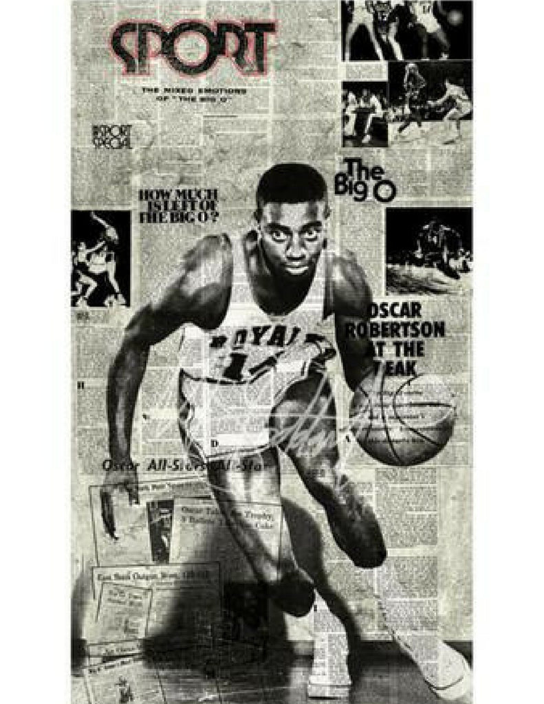"""""""No Place to Hide, 1959"""" (Oscar Robertson) by Mark Stoddart"""