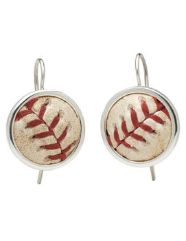 Game-Used Baseball Earrings