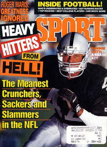 August 1991 Sport Cover (Ronnie Lott, Los Angeles Raiders)