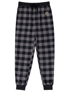 Boston Bruins (Black Plaid) Men's Woven Pyjama Pants
