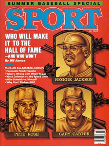 July 1986 Sport Cover (Reggie Jackson, Pete Rose and Garry Carter)