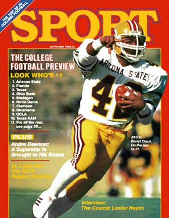 September 1984 Sport Cover (Darryl Clack, Arizona States)