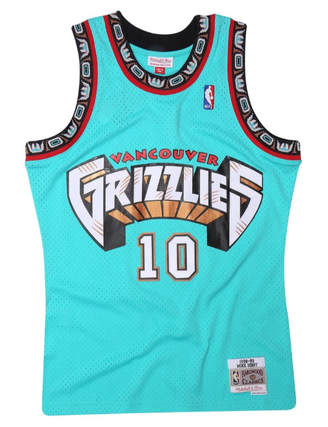 Vancouver Grizzlies 1998-99 Teal Mike Bibby Swingman Jersey
