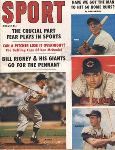August 1959 Sport Cover (Mickey Mantle, New York Yankees, Willie Mays, San Francisco Giants)