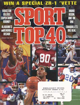 January 1993 Sport Cover (Michael Jordan of the Chicago Bulls, Jerry Rice of the San Francisco 49ers, Barry Sanders of the Detroit Lions and Magic Johnson of the LA Lakers)