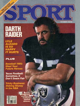 December 1983 Sport Cover (Lyle Alzado, Los Angeles Raiders)