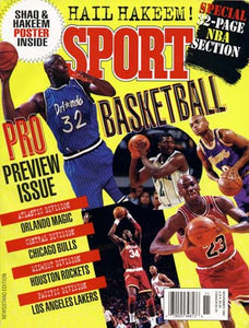 November 1995 Sport Cover (Shaquille O'Neal, Orlando Magic, Michael Jordan, Chicago Bulls)